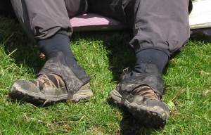 Backpacking Light gaiters. Two Moors Way, 2012
