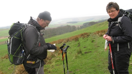 A quick check on location. Hadrian's Wall, April 2014