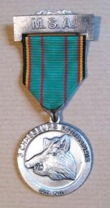 Medal from 1982 125km Marche du Souvenir et de L'Amitie- Arlon-Vielsalm