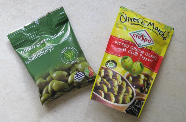 Packs of Pitted Olives