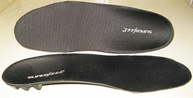 Black Superfeet insoles- trimmed to fit Trail Shoes