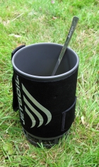 Vango spoon is easily long enough to reach to the bottom of a Jetboil