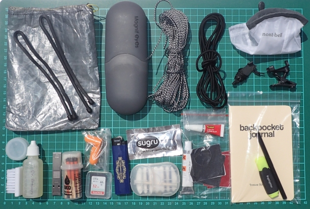 Ditty bag and contents