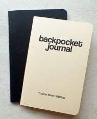 64p, 39g Moleskine cashiers journal and its replacement 48p, 19g Backpocket journal