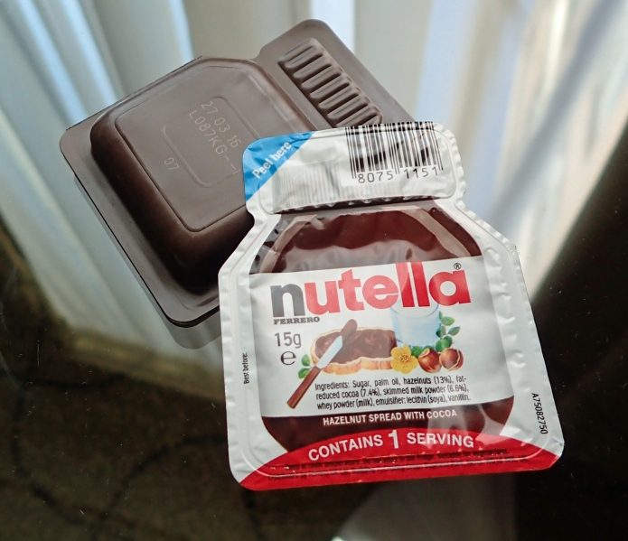 15g pack of Nutella