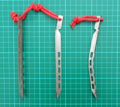 Alpkit pegs can bend with ease if used in unsuitable ground