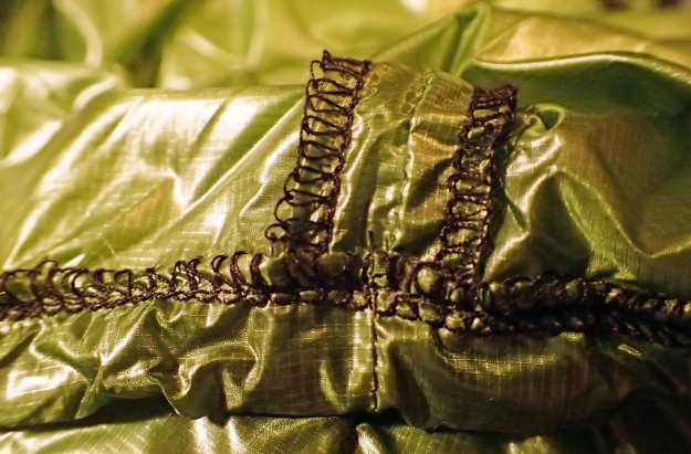 Loose but seemingly effective stitching throughout the pillow