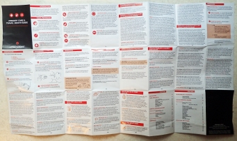 One of the small printed 'cheat sheepts' can be a useful carry to remind you of the essential treatments and actions