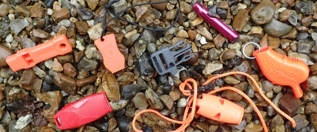 Group of emergency whistles