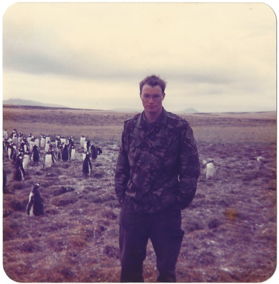 Three Points of the Compass at Rowland Cove, Falkland Islands, May 1988. Taken with Kodak Instamatic