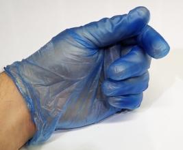 Vinyl gloves- Blue