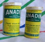 Tubs of 100 and 50 Anadin tablets