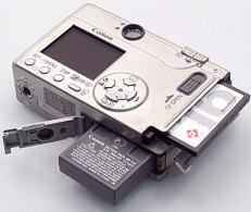 The camera had a removable battery and Compact Flash card.