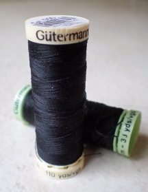 100m of Gütermann Sew-All and 30m of Gütermann Extra Strong thread. Enough for a thousand hikes