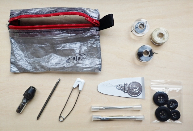 The newly assembled sewing kit- 28 in total