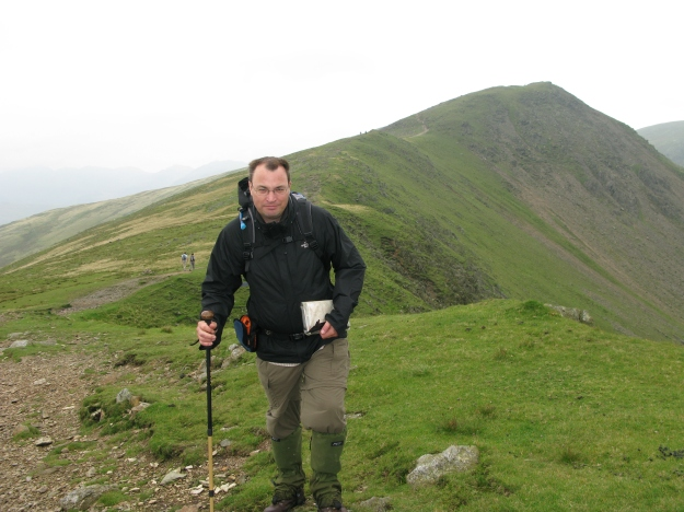 Three Points of the Compass (and Ordnance Survey map) on Old Man of Coniston, Lake District, 2008