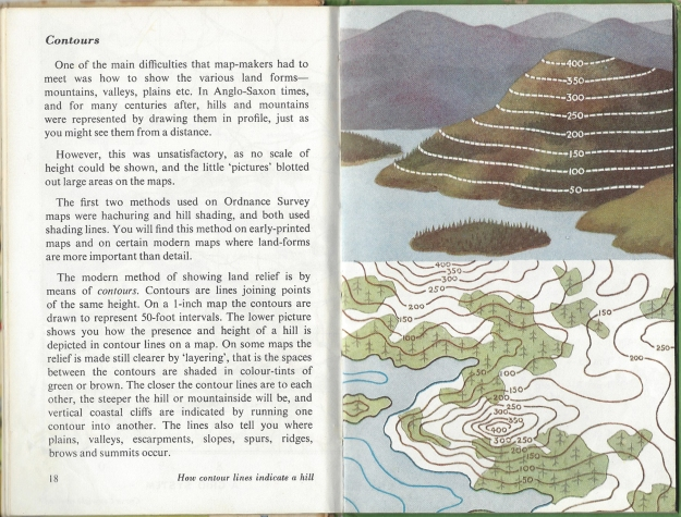The pages explaining contours, simple instruction that almost anyone could understand
