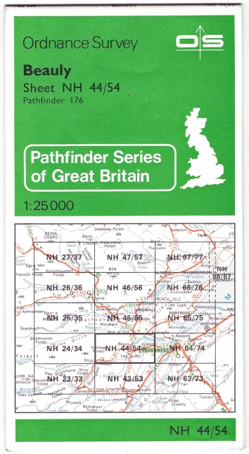 Beauly, Sheet NH 44/54, 1:25 000 Pathfinder Series of Great Britain. Published 1979