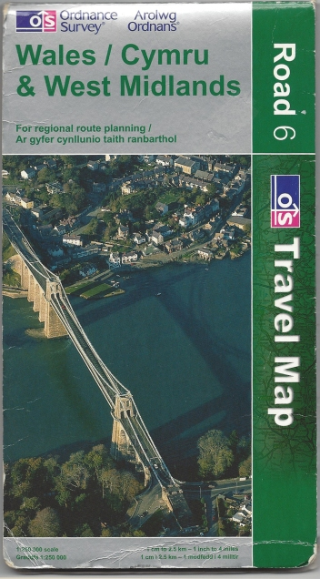 Ordnance Survey Road Series. Wales/Cymru & West Midlands