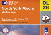 Ordnance Survey Explorer OL26. North York Moors, top left of cover. Published 2013