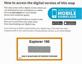 Digital download instruction inside cover of Explorer sheet