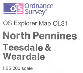 Full colour Ordnance Survey logo on inside map legend