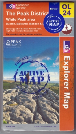 Ordnance Survey Explorer. OL 24. The Peak District, White Peak area.. 1:25 000, Active Map. Published 2006