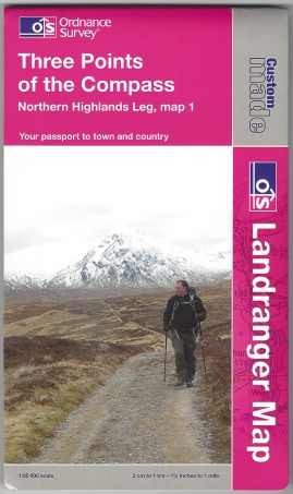 Ordnance Survey Custom Map. Landranger, 1:50 000. Northern Highlands Leg, map 1