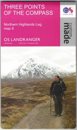 Ordnance Survey Custom Map. Landranger, 1:50 000. Northern Highlands Leg, map 6. Published 2015