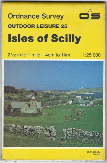 Ordnance Survey Outdoor Leisure 25. Isles of Scilly. 1:25 000. Published 1982