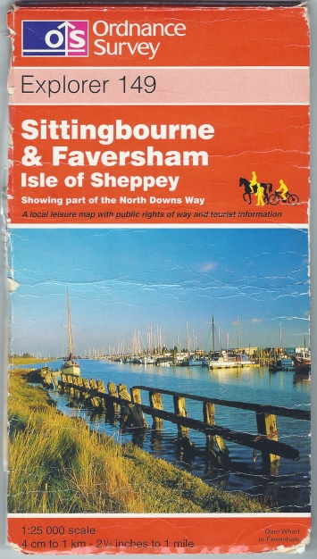 Ordnance Survey Explorer 149. Sittingbourne & Faversham, Isle of Sheppey. 1:25 000. Published 1997