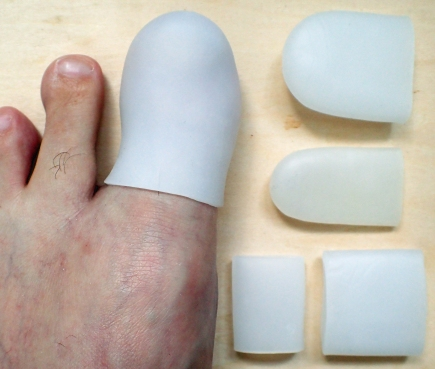 Silicone gel toe protectors are simple to roll and put on, are washable and reusable and can be cut to shape if required. The inclusion of a couple of these in a first aid kit could mean immediate relief from rubbing, friction or pressure points. The medical grade silicone gel is hypoallergenic, soft and comfortable. These examples are from Sumifun and a range of sizes can be purchased.