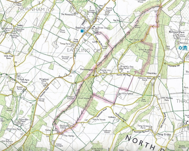 Released from family duties, a brief jaunt out on a self devised, seven mile, lollipop walk in Kent. Ordnance Survey Explorer 149
