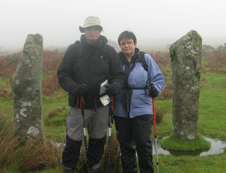 Mr and Mrs Three Points of the Compass on Dartmoor, 2013