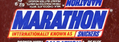 Marathon bar, transition wrapper, 1990s