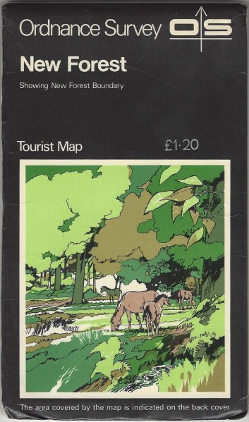 Ordnance Survey Tourist Map. New Forest. 1:25 000. Published 1973