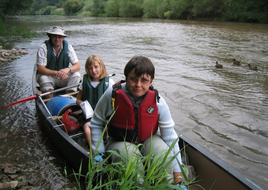 Canoeing the River Wye in 2006, map reading was seldom required and difficult to manage. However, having made landfall, an O.S. map was essential to our overnight stops