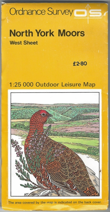 Ordnance Survey Outdoor Leisure. North York Moors, West Sheet. 1:25 000. Published 1982. Printed on both sides