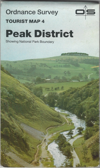 Ordnance Survey Tourist Map 4. Peak District. One-inch scale. Published 1986