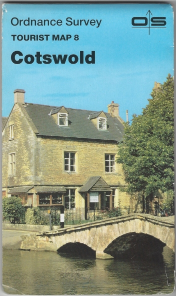 Ordnance SurveyTourist Map 8. Cotswold. One-inch scale. Published 1985