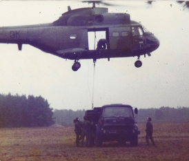 Puma helicopter on exercise, 1981