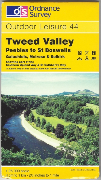 Ordnance Survey Outdoor Leisure 44. Tweed Valley, Peebles to St Boswells. 1:25 000. Published 1997