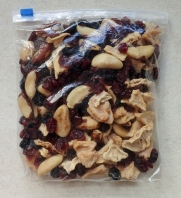 Trail mix, fruits and nuts