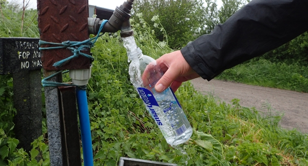 Re-filling with fresh water on The Ridgeway