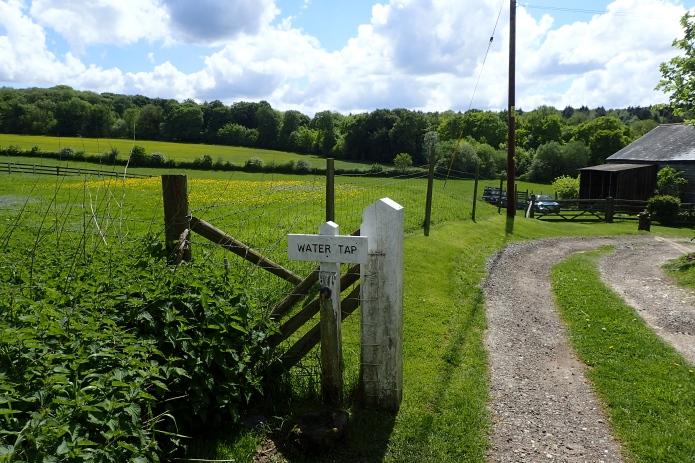 Water tap near Grimsdyke Cottage