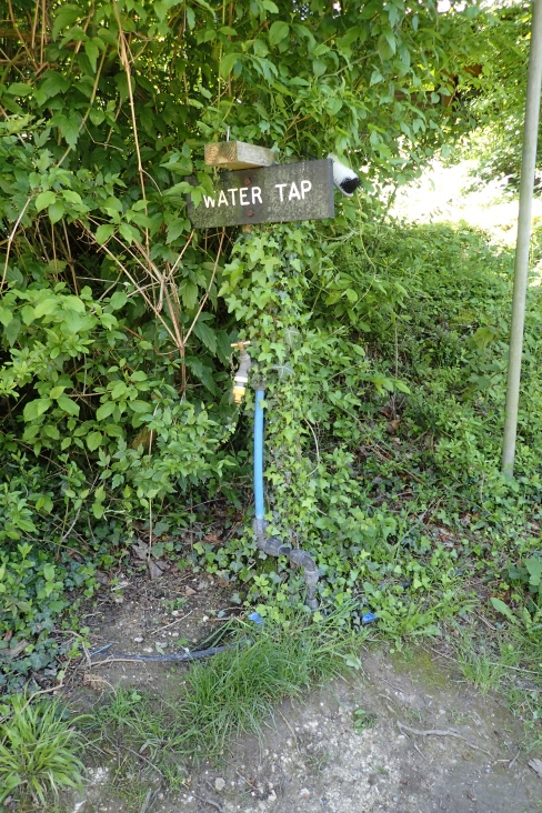 Water tap at near Aston Rowant. On right, near building just before the first minor road after having passed beneath the M40