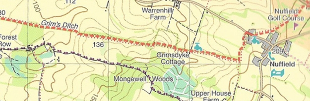 The Harvey map for the Ridgeway shows a handful of water supply points en route. Typically, these two are within a kilometre of each other!