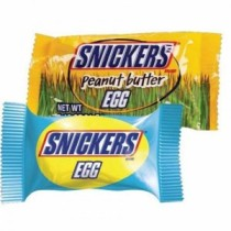 Snickers Egg and Snickers Peanut Butter Egg