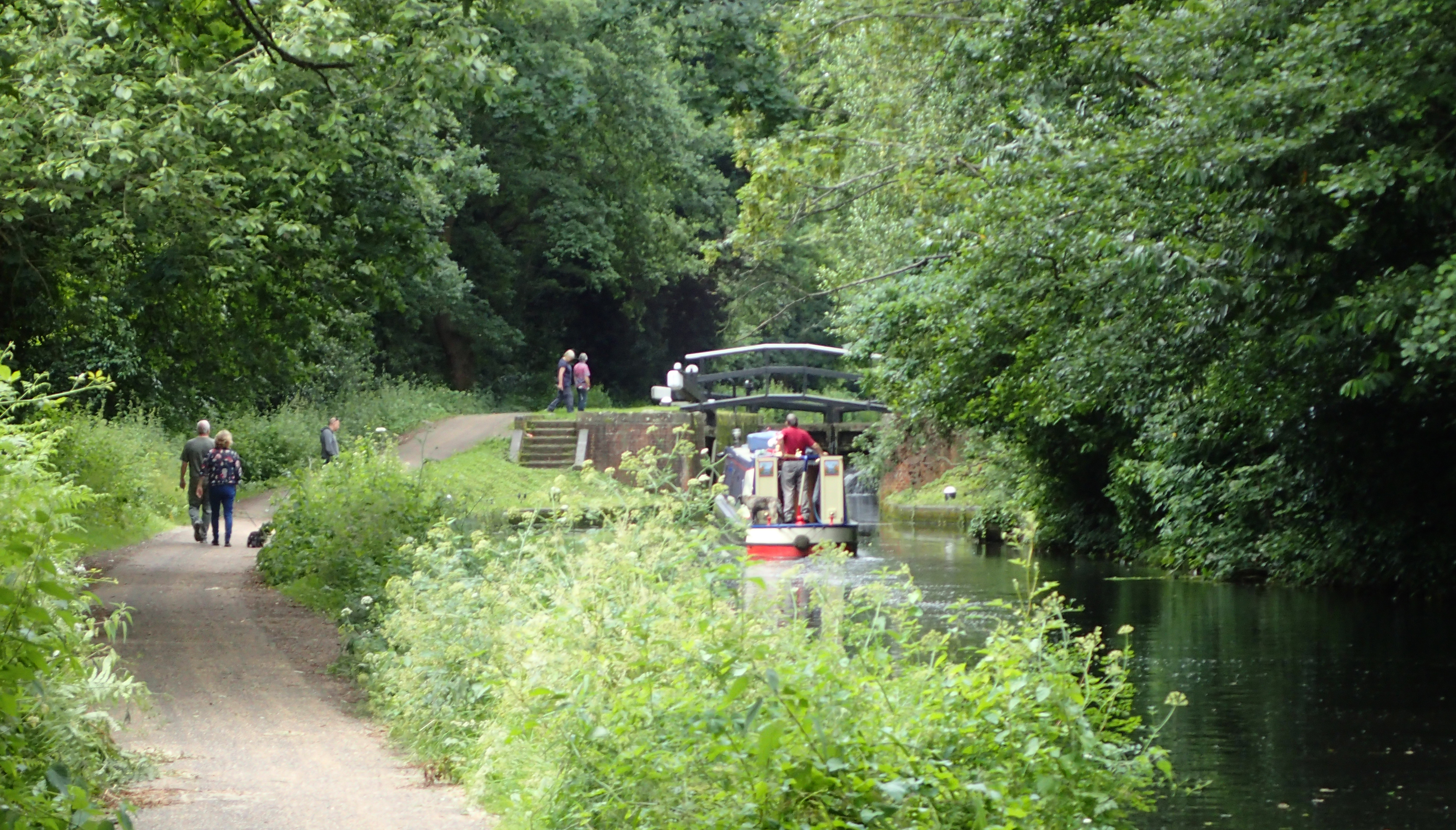 Two canals have been briefly followed so far, the Wey Navigation and the Basingstoke Canal (above). I particularly enjoyed this as I briefly worked on its restoration in the 1970s