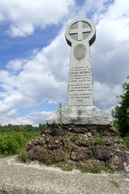 Memorial on Chobham Common, erected 1901. This marked the occasion when Queen Victoria reviewed eight hundred of her troops (including the Light Brigade) in 1853 prior to their leaving for the Crimea